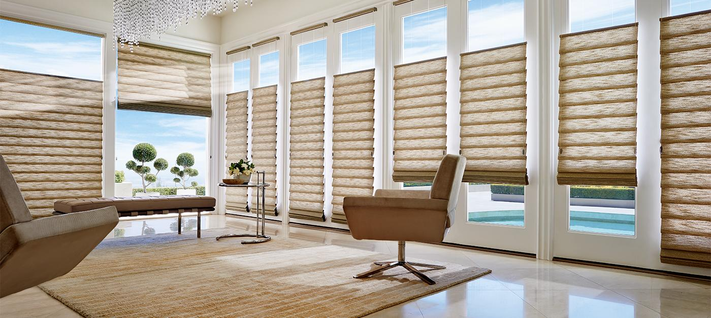 commercial products - Hunter Douglas Motorized Blinds